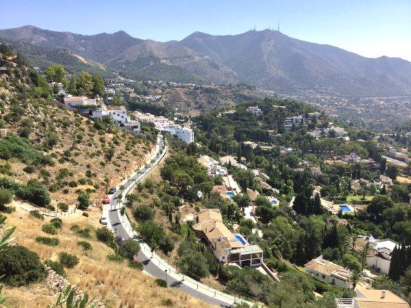 見晴らし展望台から山の景色