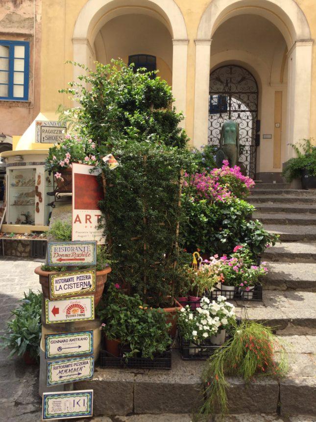 花壇の階段